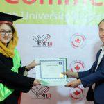 ششمین دوره فراغت محصلین از مرکز زبان انگلیسی دانشگاه کاتب