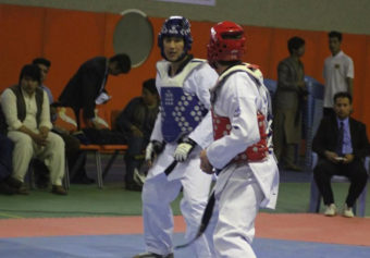 Achieving gold medal by Kateb university representative at taekwondo national tournament