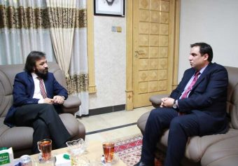 Meeting of KU Chancellor With Dr. Zabehullah Asadi
