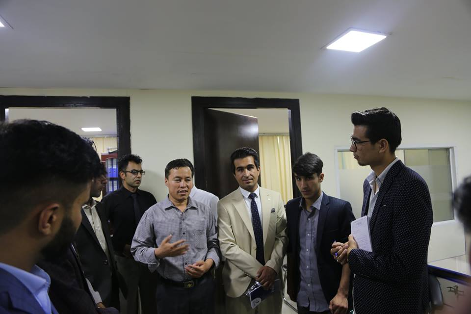 kateb University students visit azizi Bank