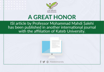 ISI article by Mr. Mahdi Salihy, a Professor of Engineering and Computer Science Faculty, was published.