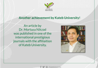 Article by Dr. Mortaza Nikzad was Published in an International Prestigious Journal.