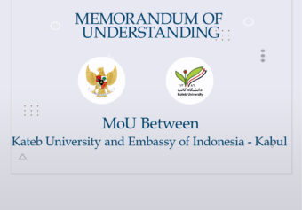 MoU between Kateb University and the Embassy of Republic of Indonesia.